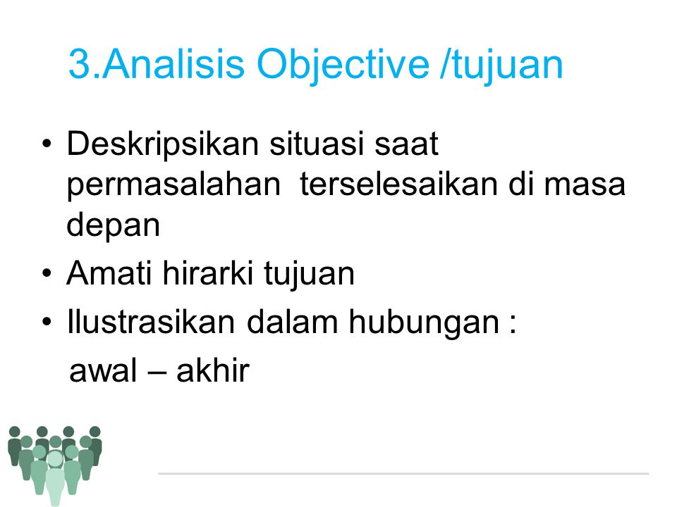 3.Analisis Objective /tujuan