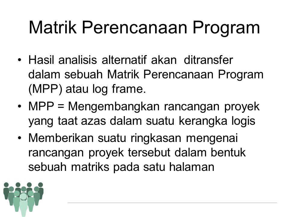 Matrik Perencanaan Program