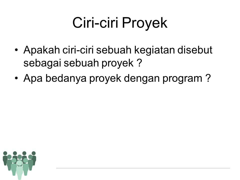 Ciri-ciri Proyek Apakah ciri-ciri sebuah kegiatan disebut sebagai sebuah proyek .