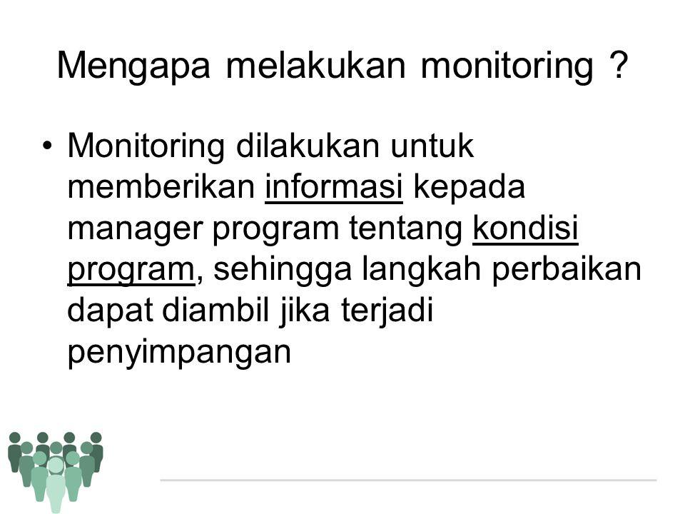Mengapa melakukan monitoring