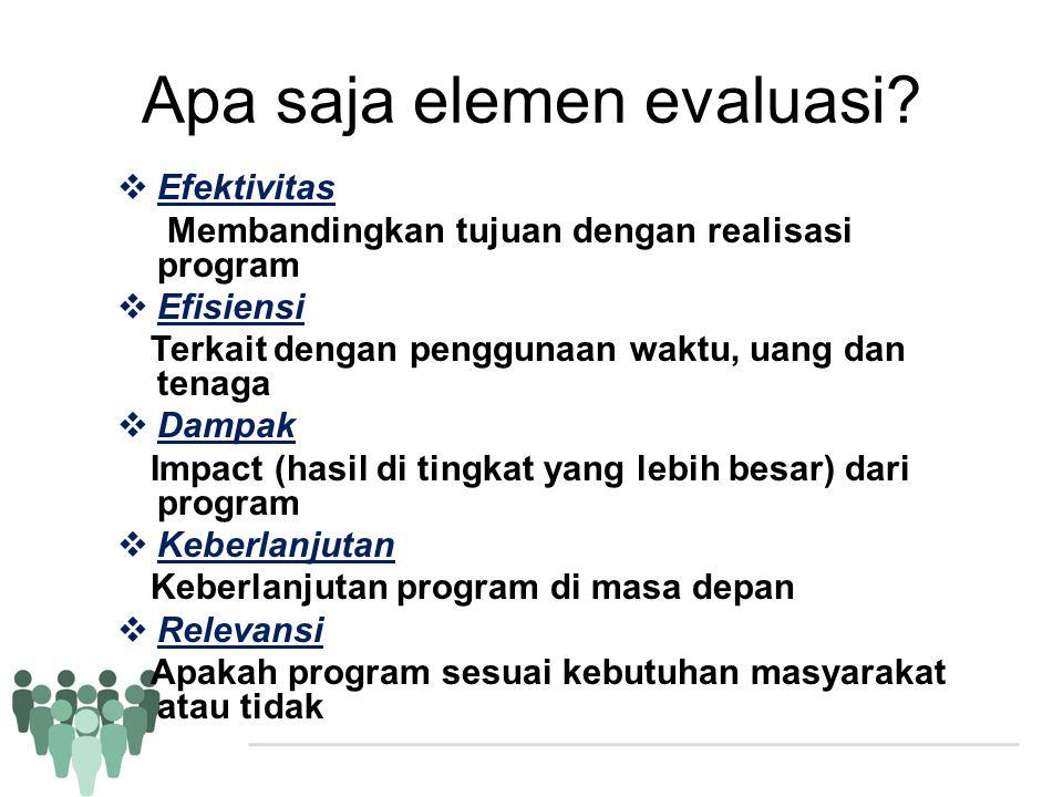 Apa saja elemen evaluasi