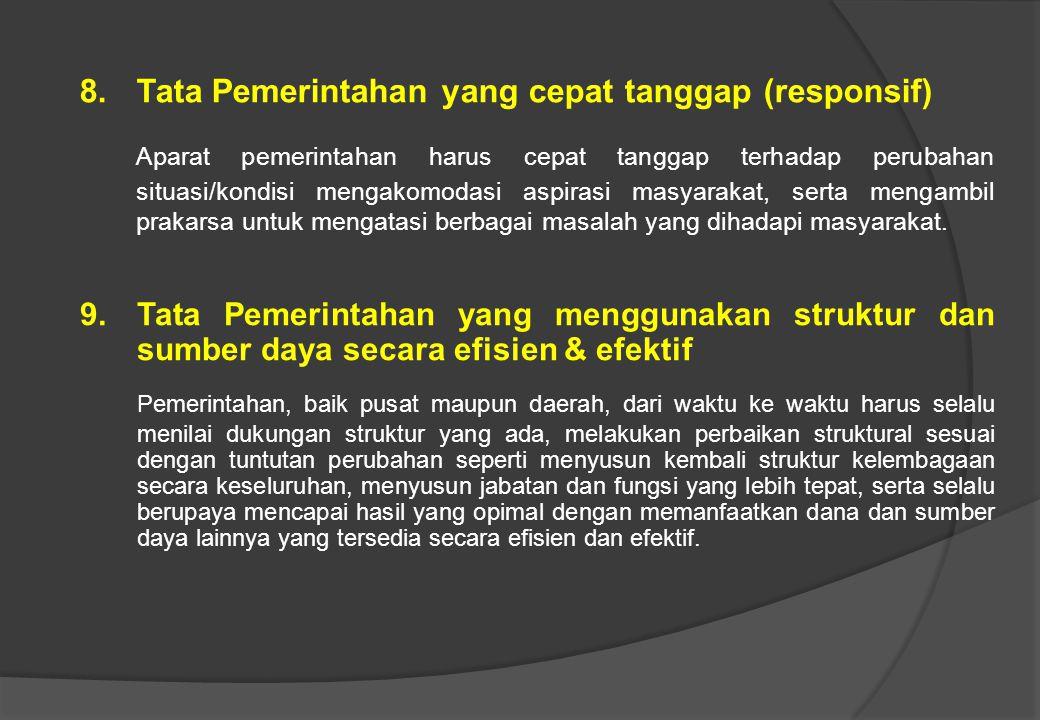 Tata Pemerintahan yang cepat tanggap (responsif)