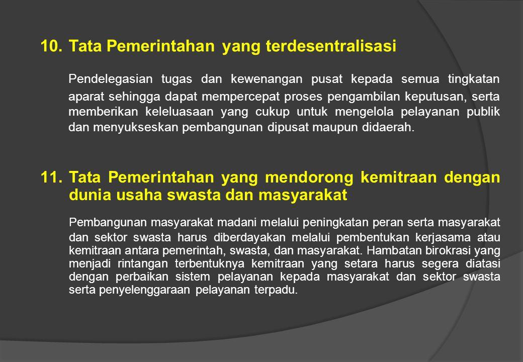 Tata Pemerintahan yang terdesentralisasi