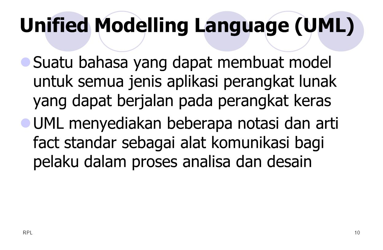 Unified Modelling Language (UML)