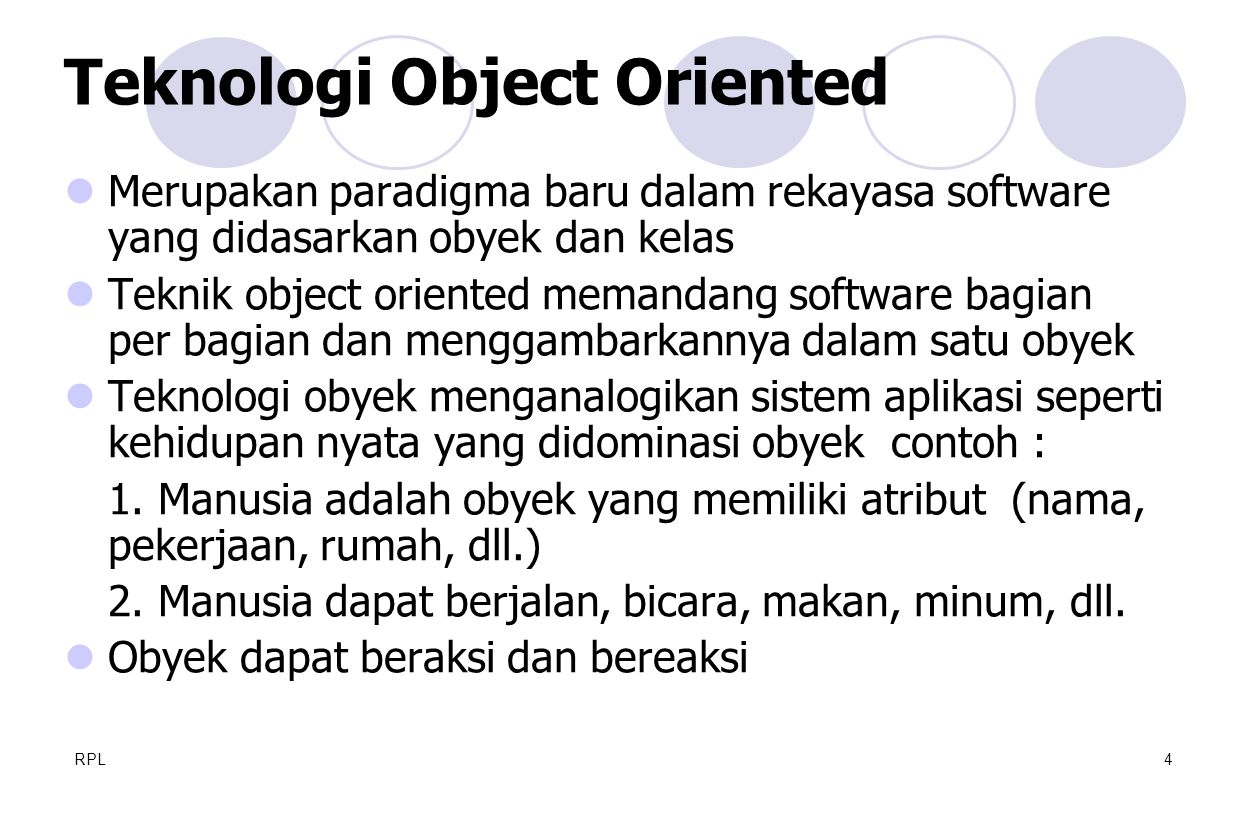 Teknologi Object Oriented