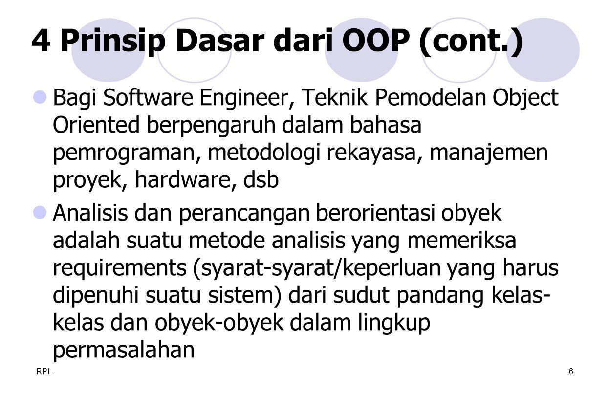 4 Prinsip Dasar dari OOP (cont.)