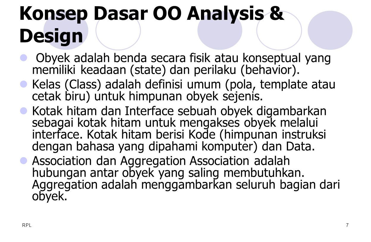 Konsep Dasar OO Analysis & Design