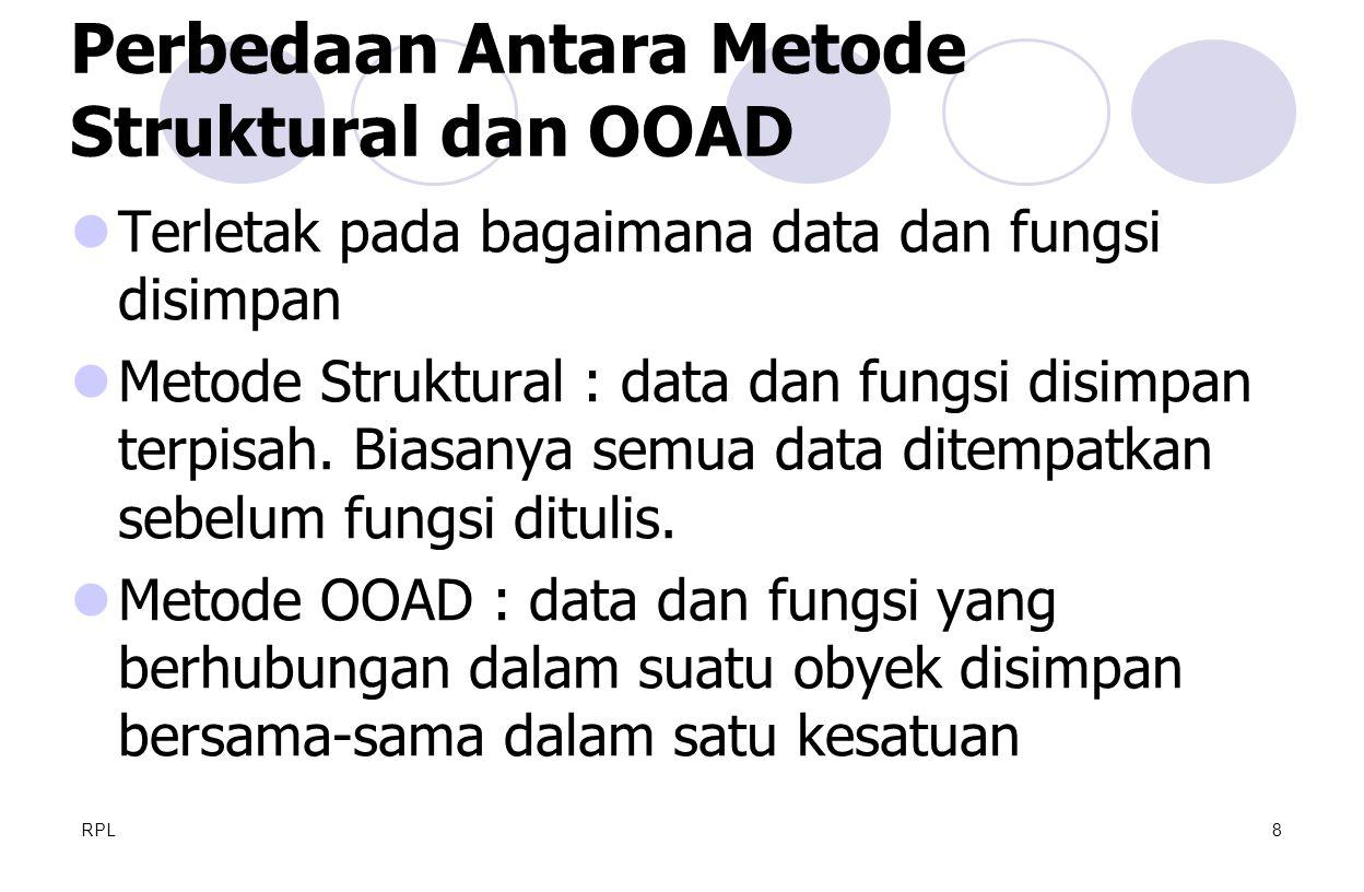 Perbedaan Antara Metode Struktural dan OOAD