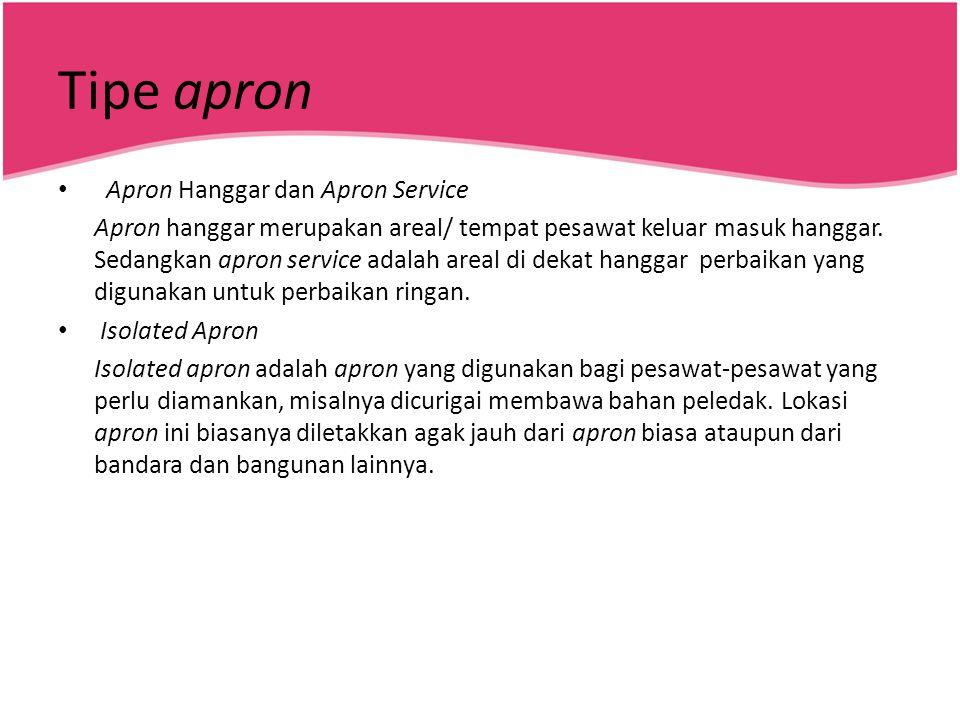Tipe apron Apron Hanggar dan Apron Service