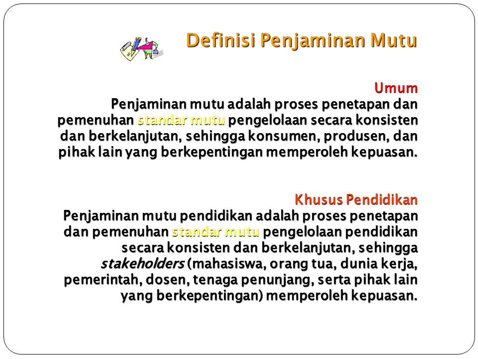Definisi Penjaminan Mutu