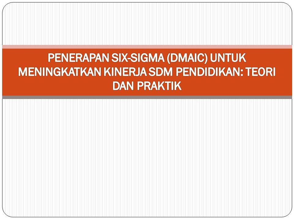 PENERAPAN SIX-SIGMA (DMAIC) UNTUK MENINGKATKAN KINERJA SDM PENDIDIKAN: TEORI DAN PRAKTIK