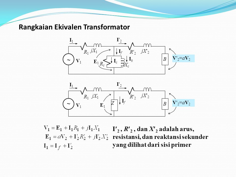Rangkaian Ekivalen Transformator