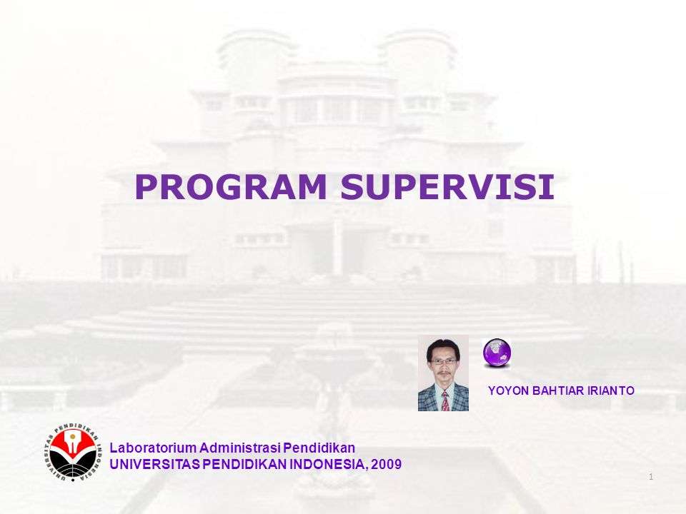 PROGRAM SUPERVISI Laboratorium Administrasi Pendidikan