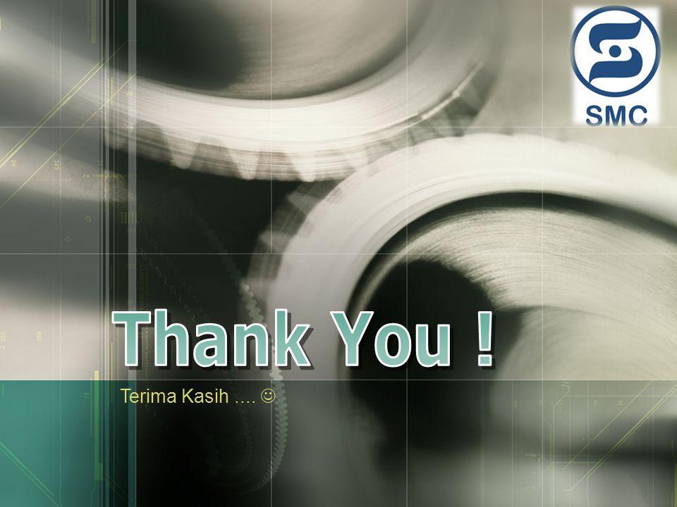 Thank You ! Terima Kasih .... 