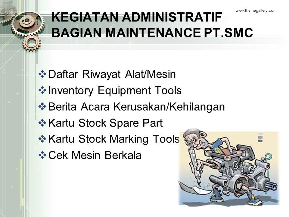 KEGIATAN ADMINISTRATIF BAGIAN MAINTENANCE PT.SMC