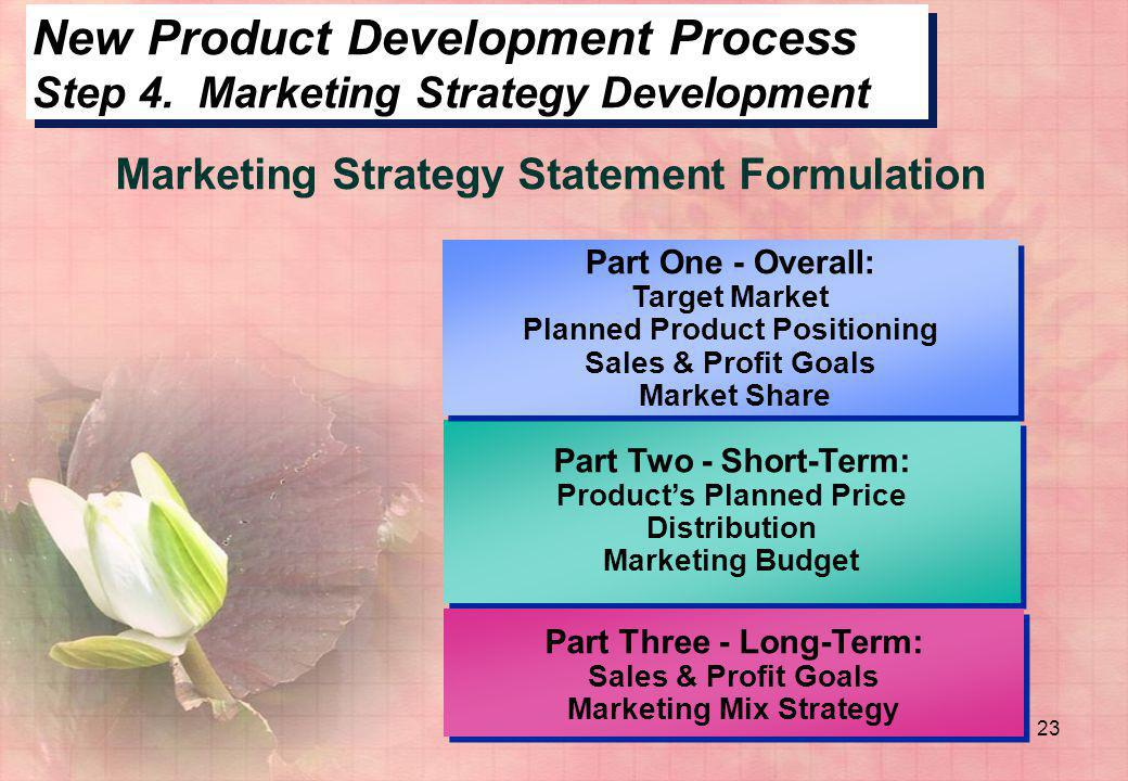 New Product Development Process Step 4. Marketing Strategy Development
