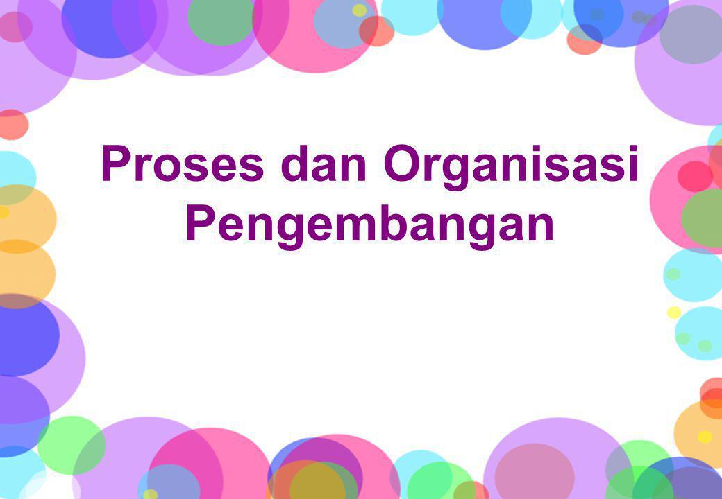 Proses dan Organisasi Pengembangan