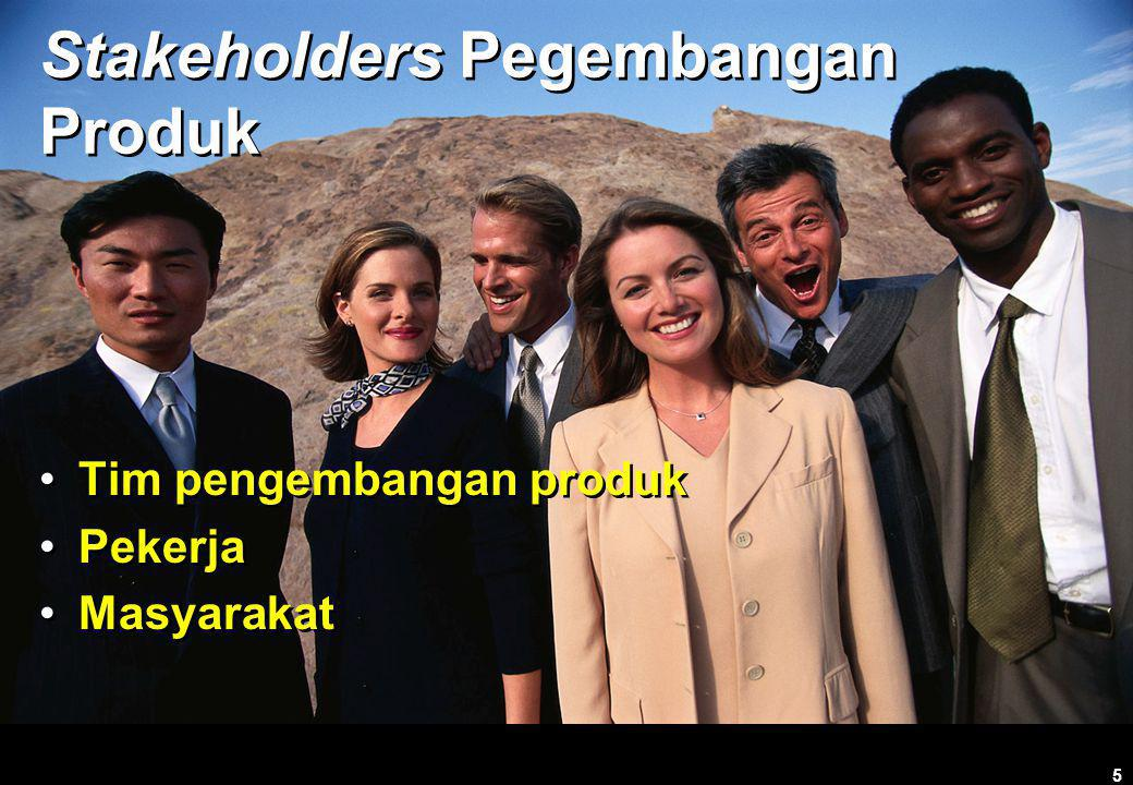 Stakeholders Pegembangan Produk
