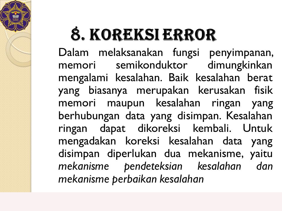 8. Koreksi Error
