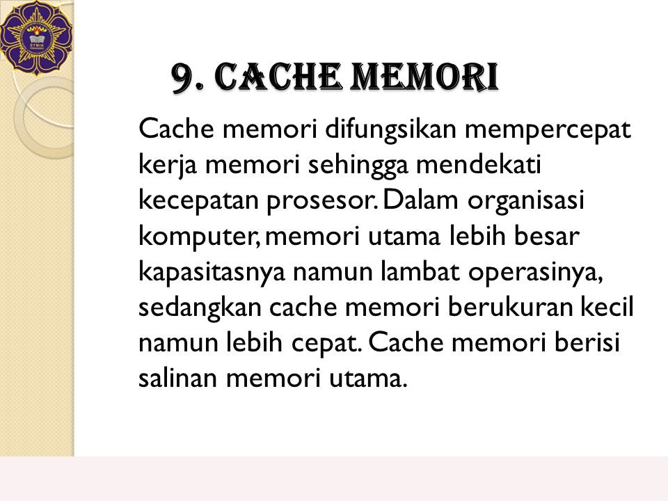 9. Cache Memori