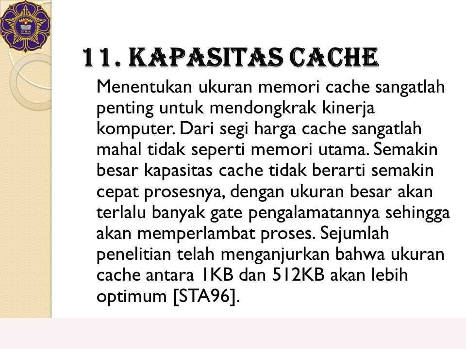 11. Kapasitas Cache