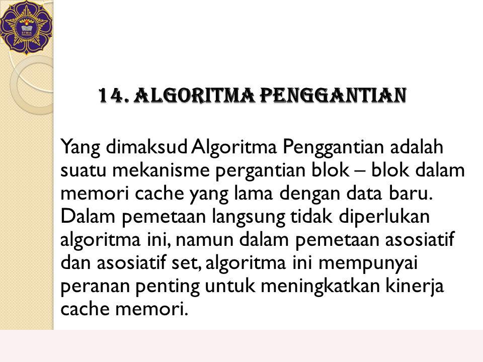 14. Algoritma Penggantian