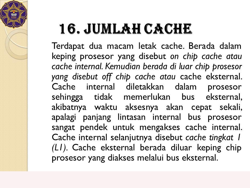 16. Jumlah Cache