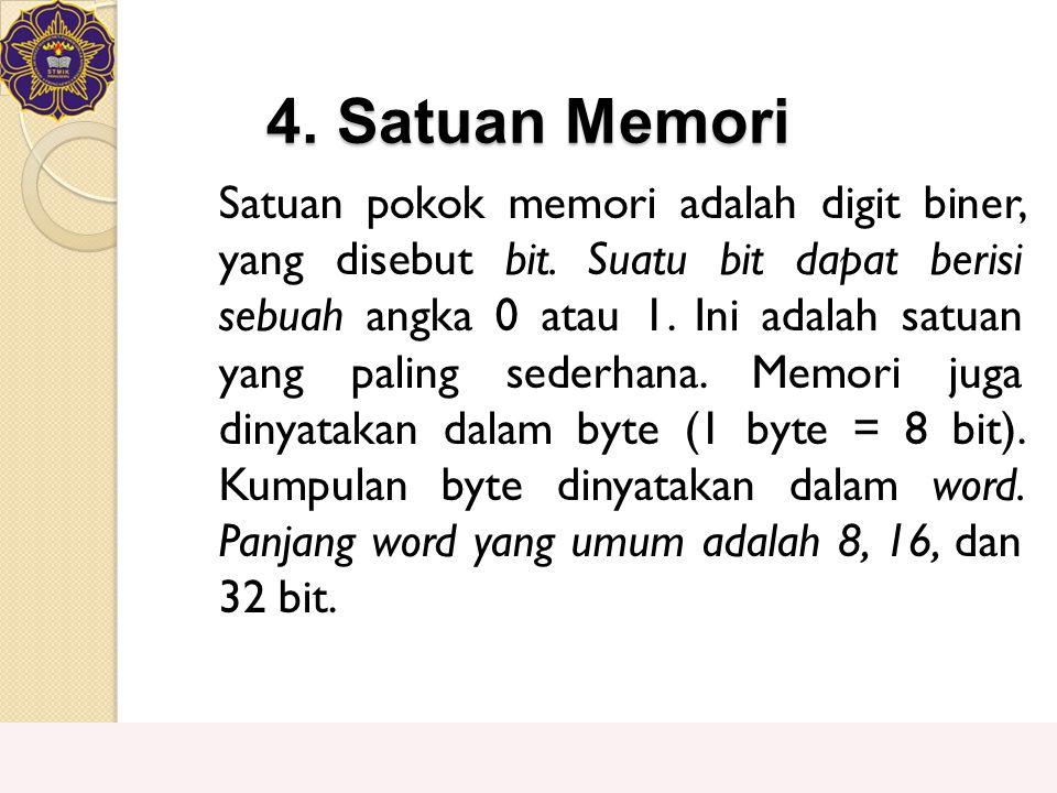 4. Satuan Memori