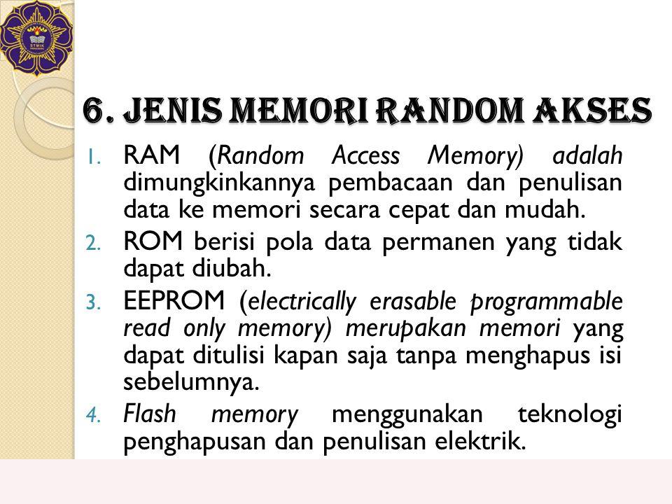 6. Jenis Memori Random Akses