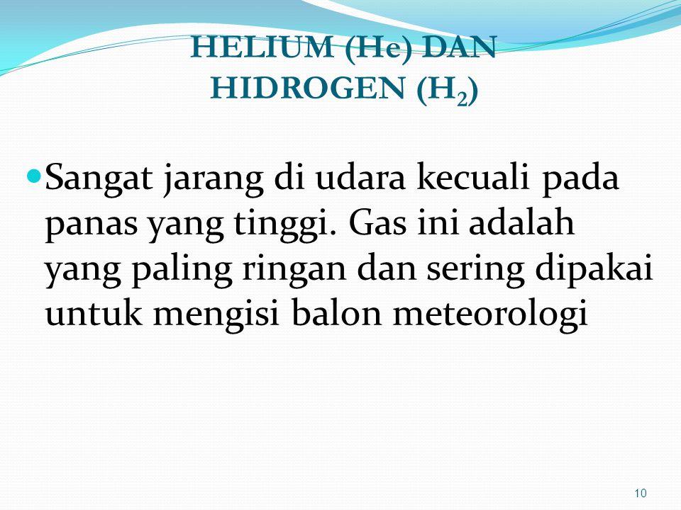 HELIUM (He) DAN HIDROGEN (H2)