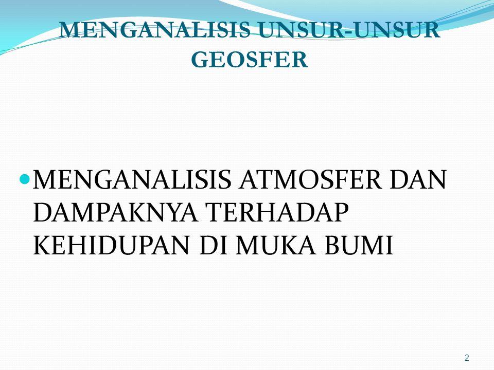 MENGANALISIS UNSUR-UNSUR GEOSFER