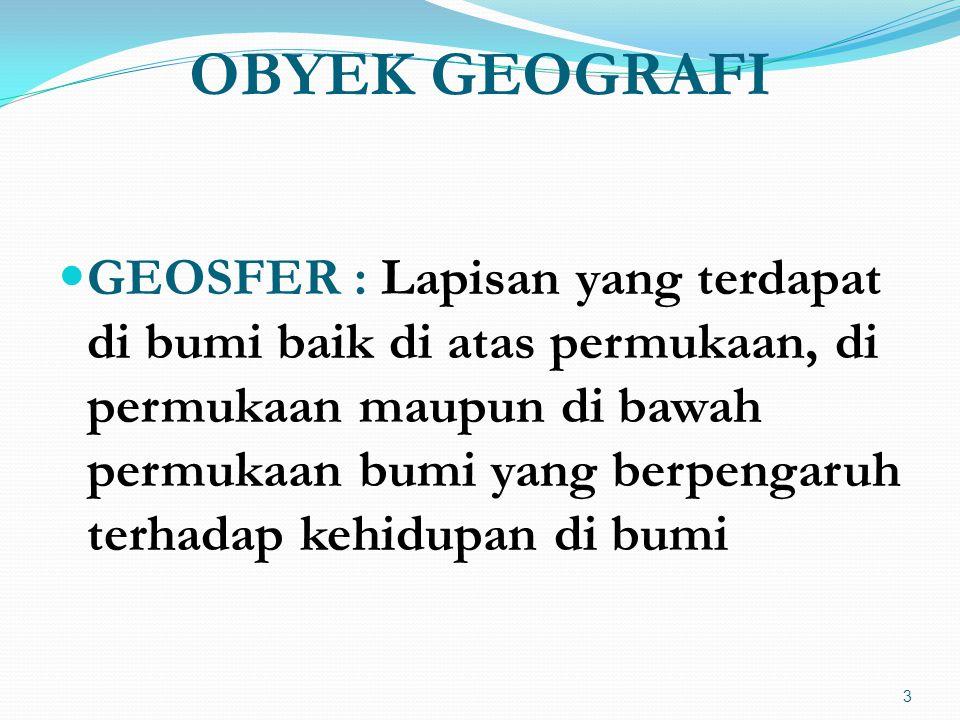 OBYEK GEOGRAFI