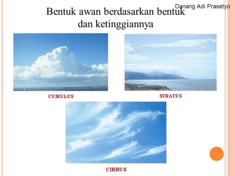 Bentuk awan berdasarkan bentuk