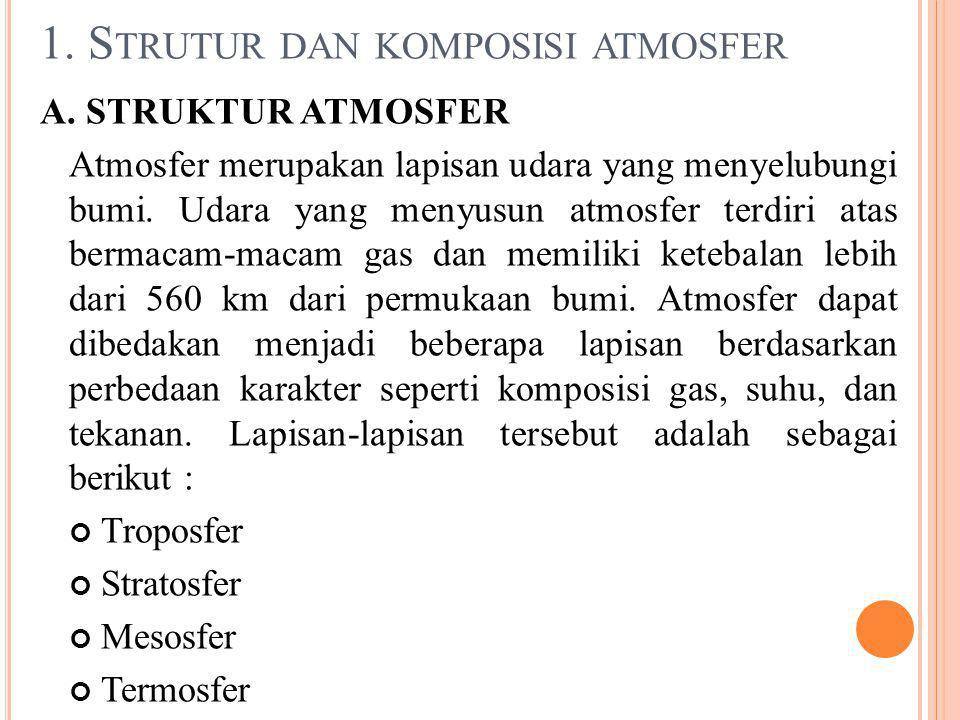 1. Strutur dan komposisi atmosfer