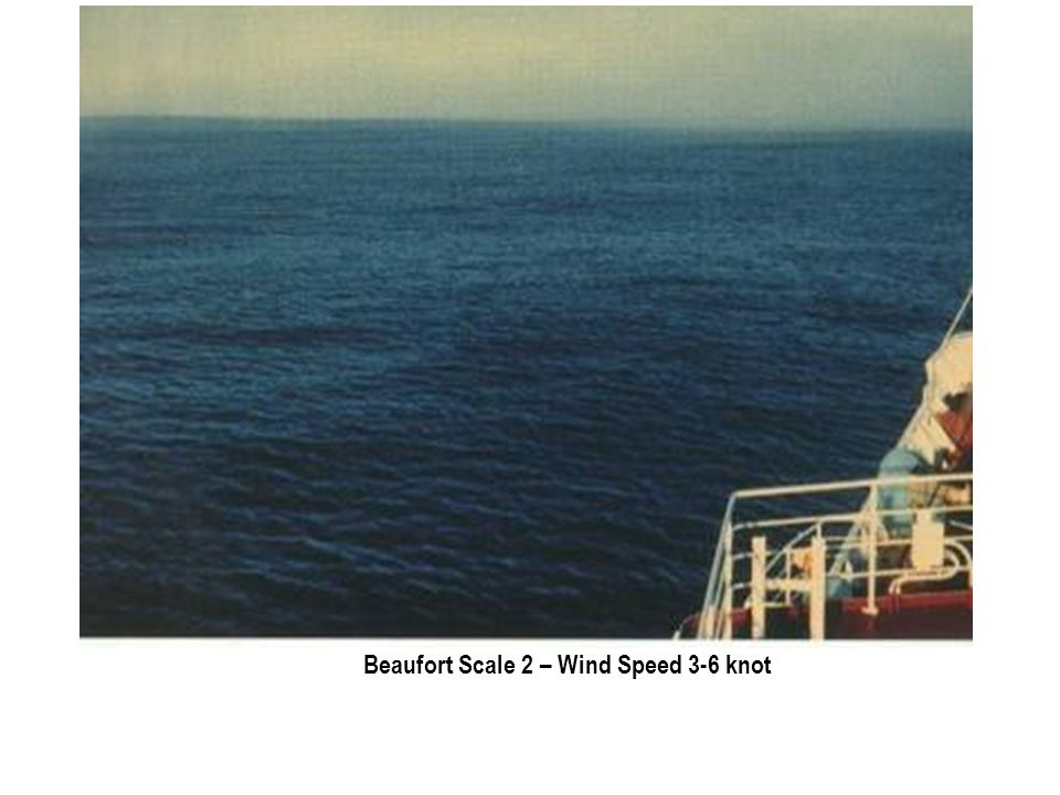 Beaufort Scale 2 – Wind Speed 3-6 knot