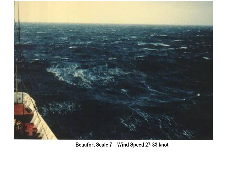 Beaufort Scale 7 – Wind Speed 27-33 knot