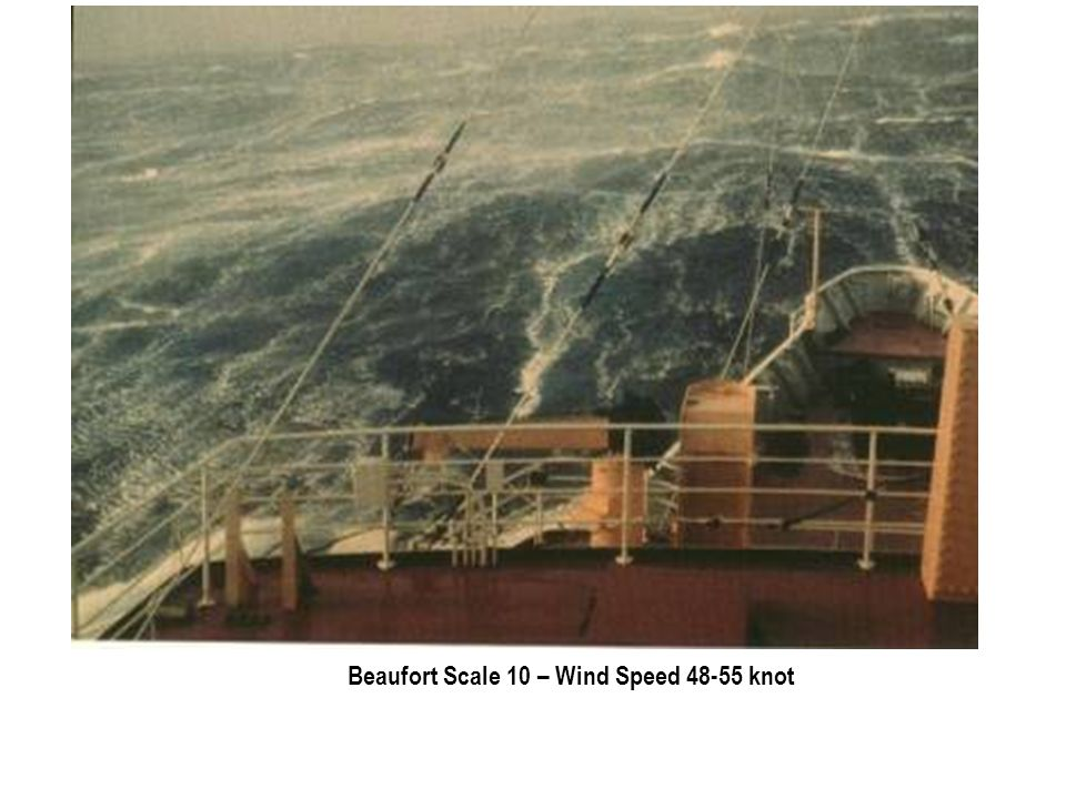 Beaufort Scale 10 – Wind Speed 48-55 knot