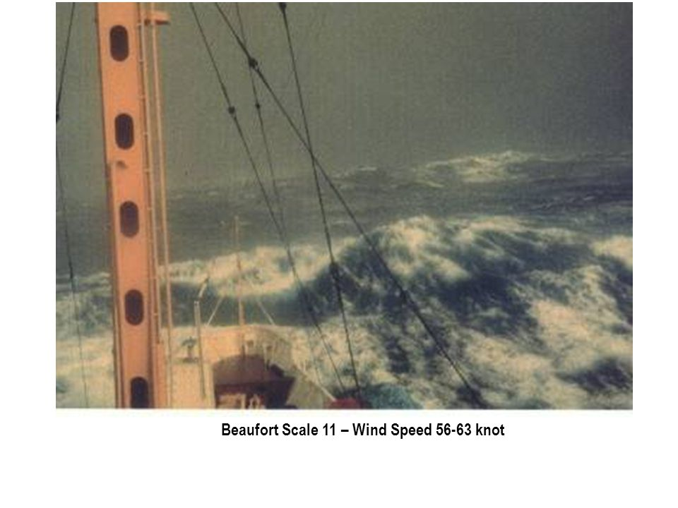 Beaufort Scale 11 – Wind Speed 56-63 knot