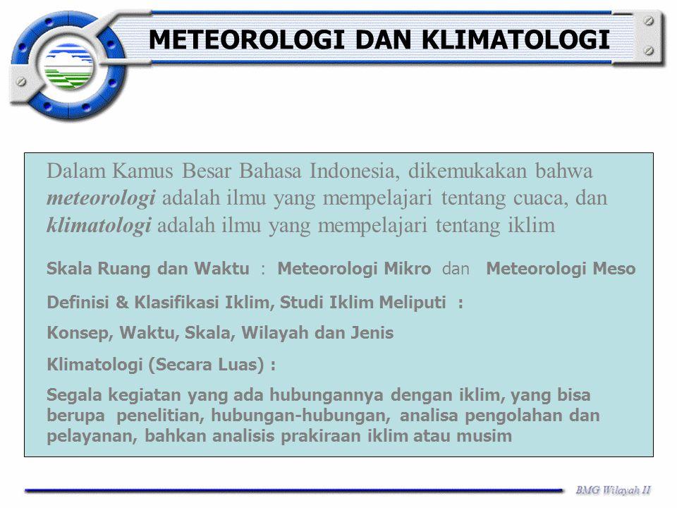 METEOROLOGI DAN KLIMATOLOGI