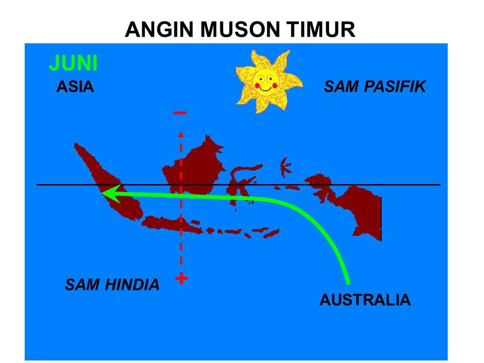 ANGIN MUSON TIMUR JUNI ASIA SAM PASIFIK – + SAM HINDIA AUSTRALIA