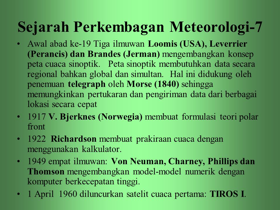 Sejarah Perkembagan Meteorologi-7