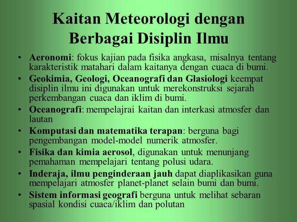 Kaitan Meteorologi dengan Berbagai Disiplin Ilmu