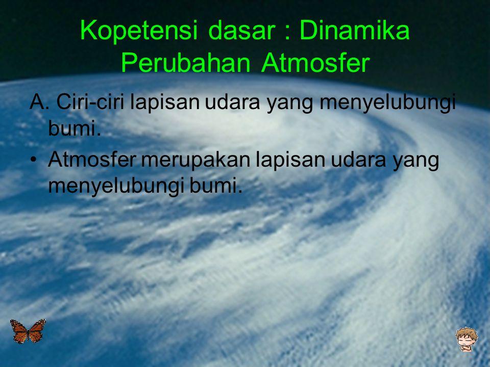 Kopetensi dasar : Dinamika Perubahan Atmosfer