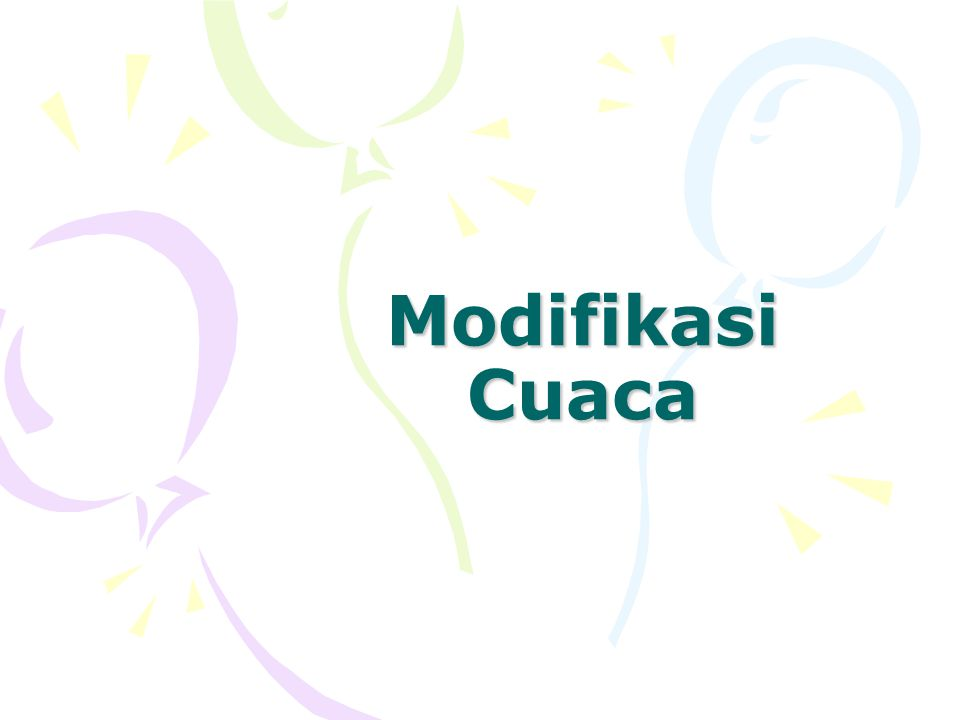 Modifikasi Cuaca