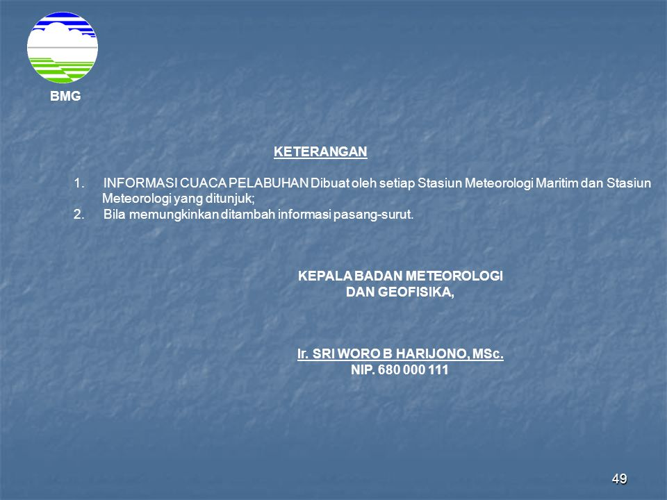 Meteorologi yang ditunjuk;