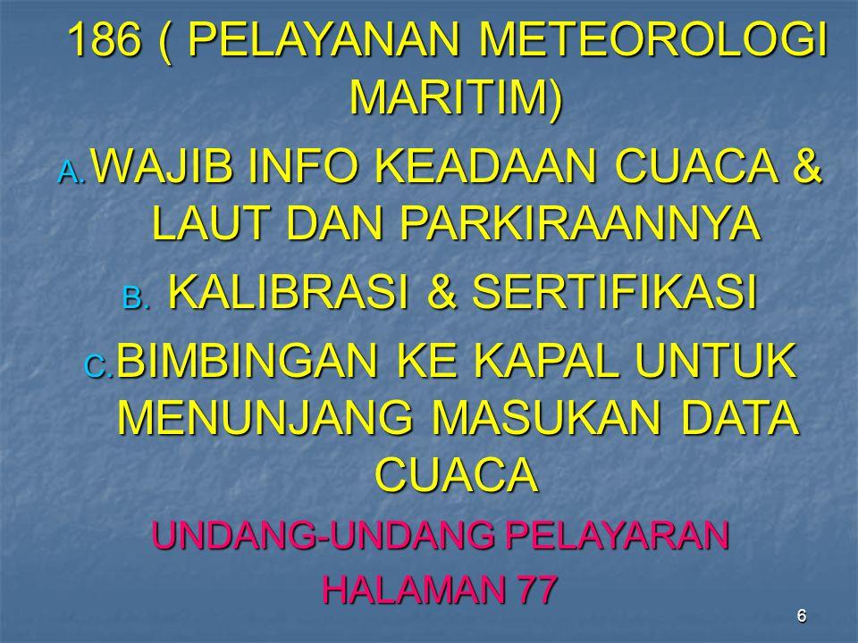 186 ( PELAYANAN METEOROLOGI MARITIM)