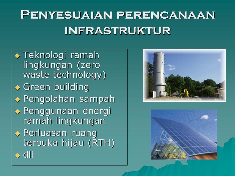Penyesuaian perencanaan infrastruktur