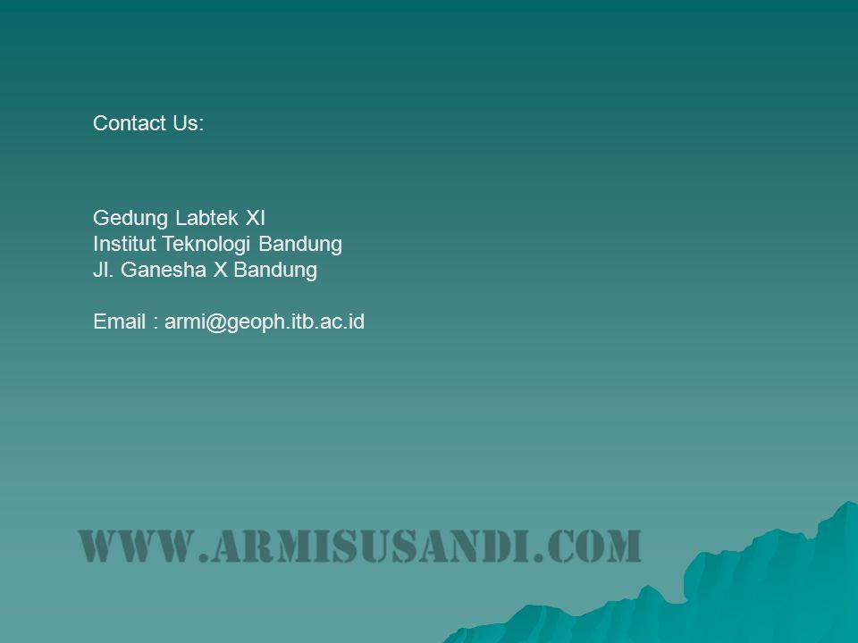 Contact Us: Gedung Labtek XI. Institut Teknologi Bandung.