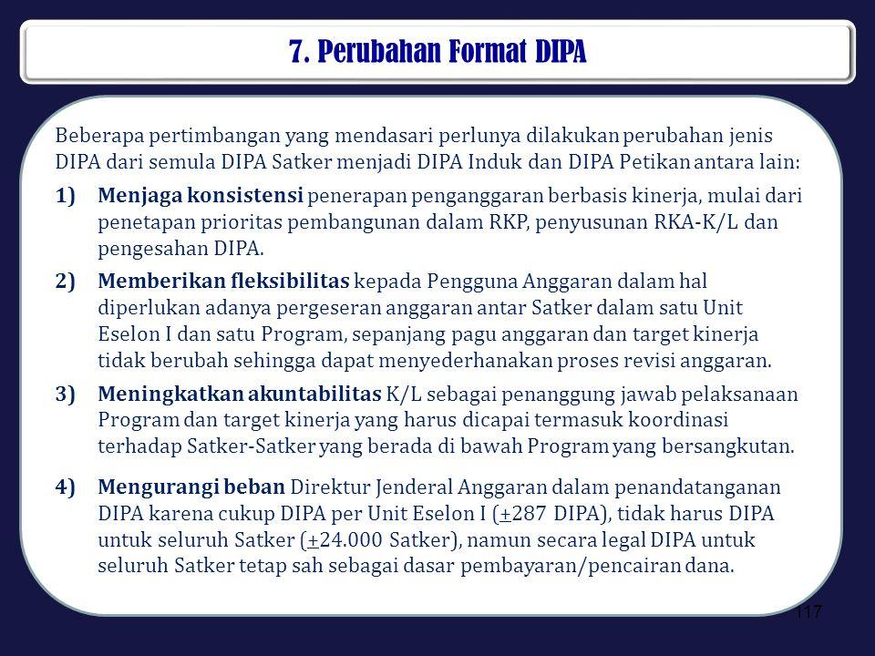 7. Perubahan Format DIPA