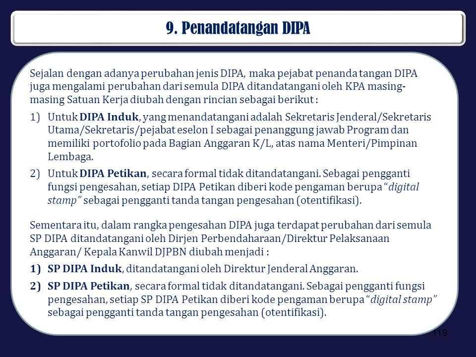 9. Penandatangan DIPA